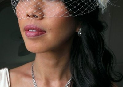 bride-with-bird-cage-veil-