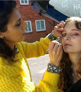 Alfresco makeup booth