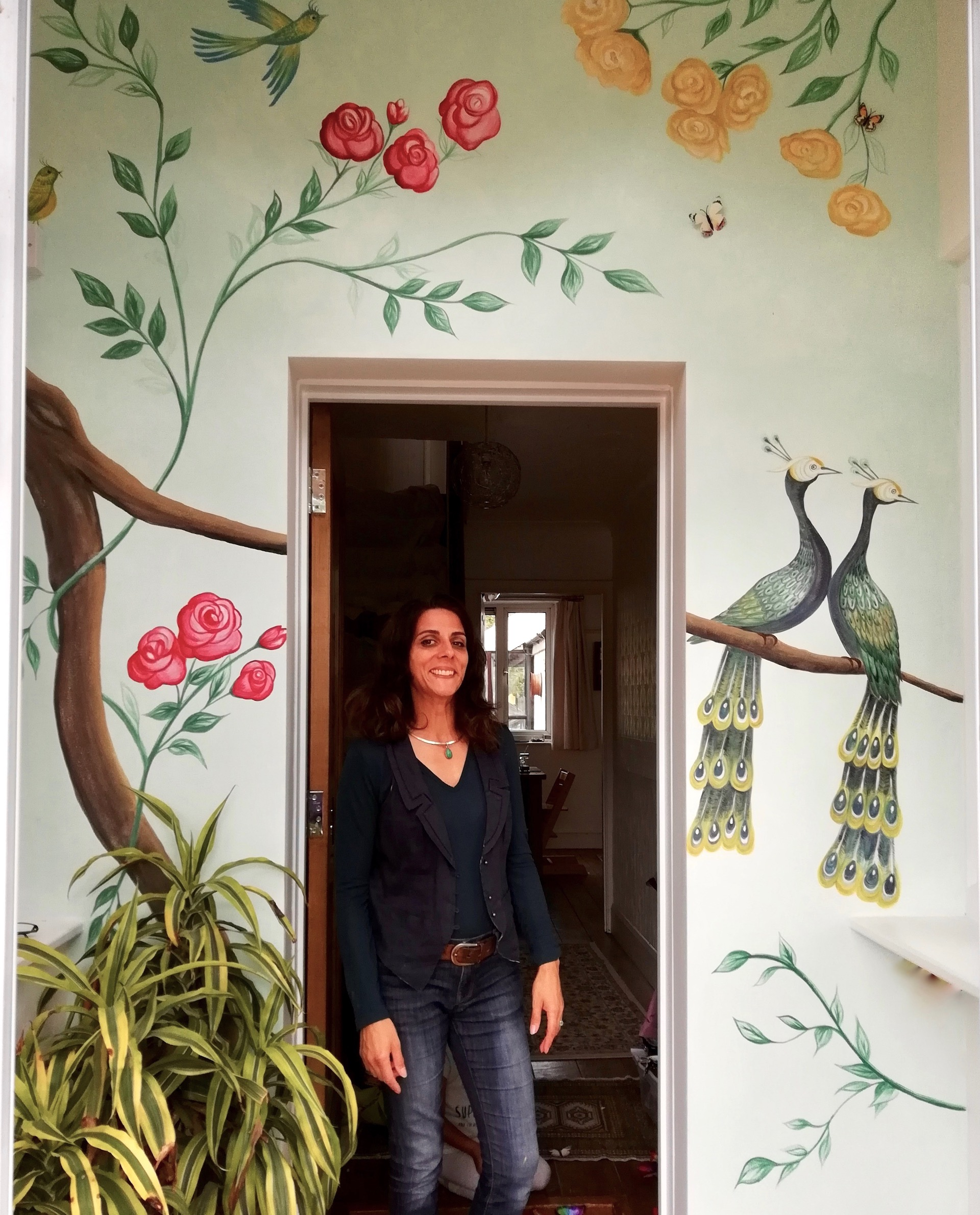 Vintage wallpaper style mural - Porch