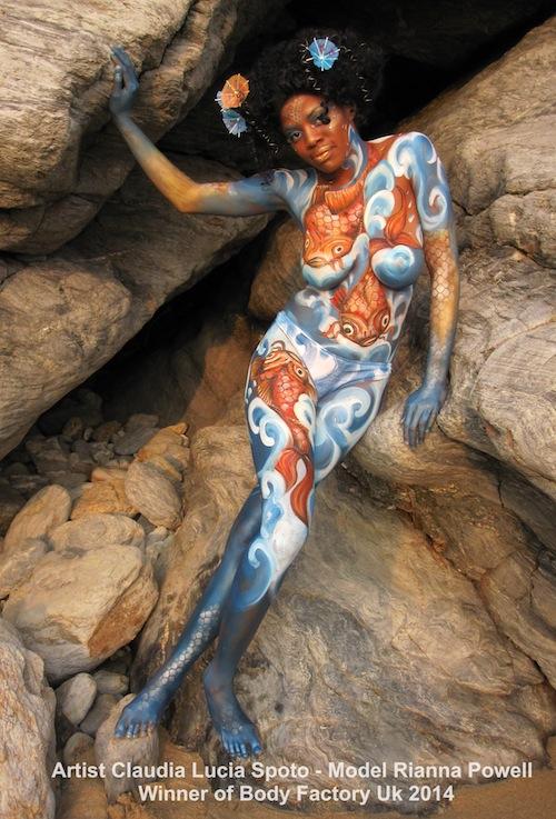 body painting fish