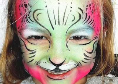 face painting colourfulcat