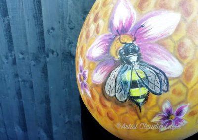 Bee & Flower Bump Art