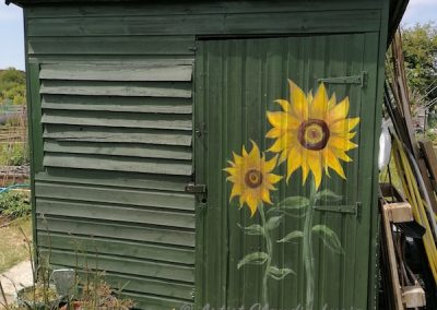Sunflower-shed-mural