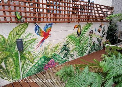 tropical garden mural part 2