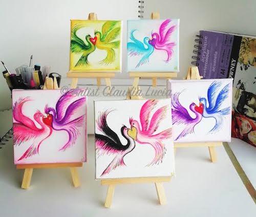 Love Bird Collection canvas