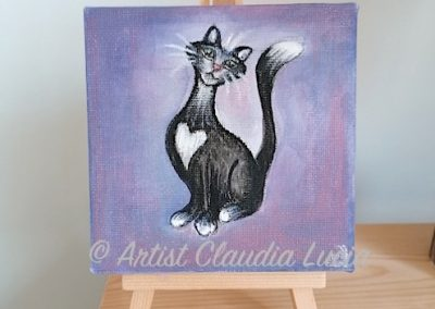 Love Cat - mini acrylic canvas