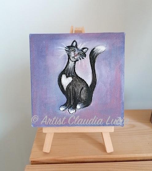 mini cat canvas