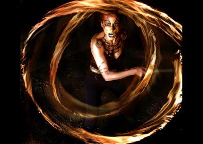 fire dancing body paint