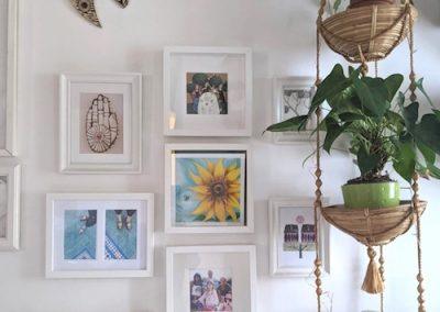 Sunflower & Bee Happy Gilceé Print in situ - £18