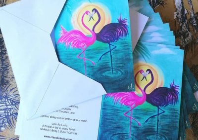 Flaming Flamingos (Amigos) Cards